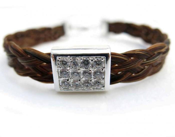 horse-hair-bracelet-square-sparkler 45 Elegant & Breathtaking Horse Hair Bracelets