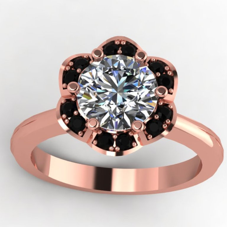 il_570xN.391327877_jajh 50 Non-Traditional Black Diamond Rose Gold Engagement Rings