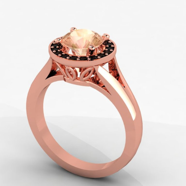 il_570xN.391676976_39y7 50 Non-Traditional Black Diamond Rose Gold Engagement Rings