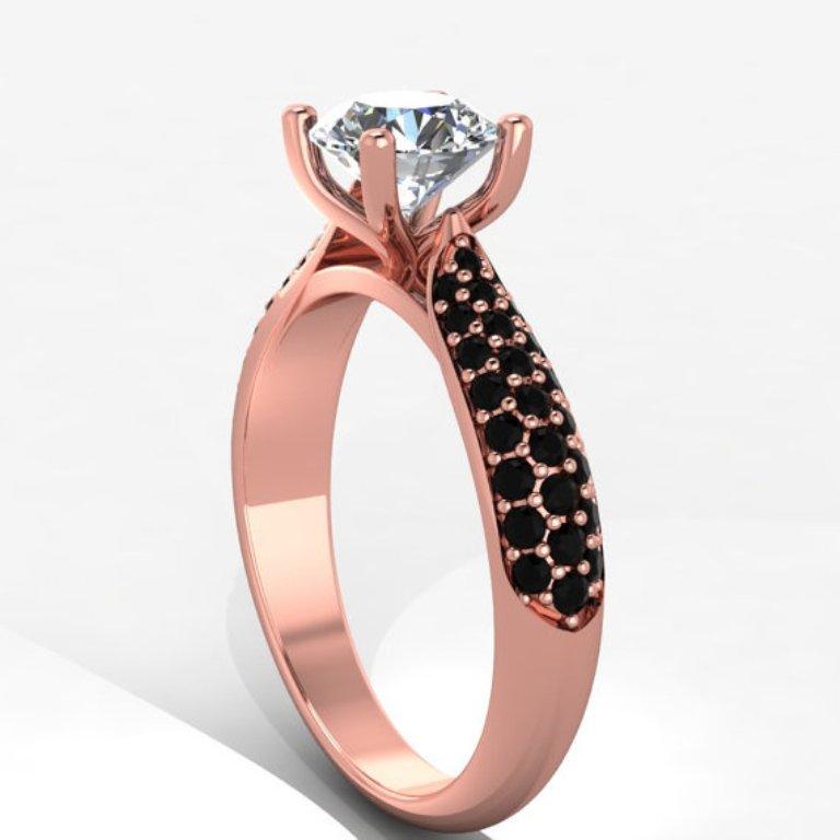 il_570xN.406479504_dc6j 50 Non-Traditional Black Diamond Rose Gold Engagement Rings