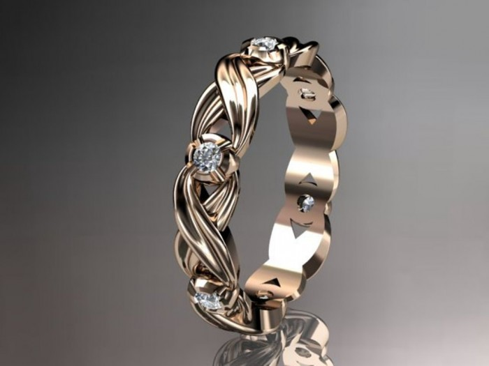 il_fullxfull.336990540 Top 60 Stunning & Marvelous Rose Gold Wedding Bands