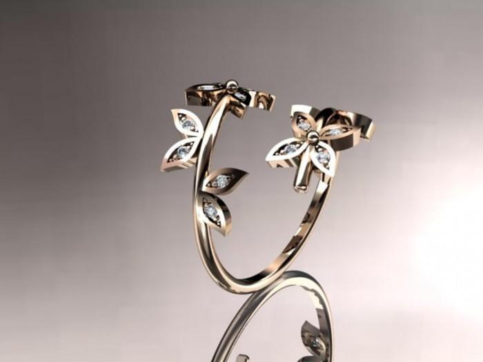 import-14k_rose_gold_diamond_leaf_and_vine_wedding_ring_engagement_ring_wedding_band-edddbd03021c8ed6ea91ded417f982e0 Top 60 Stunning & Marvelous Rose Gold Wedding Bands