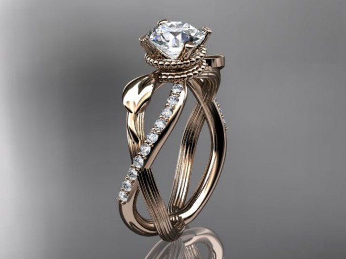 import-14kt_rose_gold_diamond_leaf_and_vine_wedding_ring_engagement_ring_ADLR70-c1d333f0d5edfbc395df38e12a3ff9c8 Top 70 Dazzling & Breathtaking Rose Gold Engagement Rings