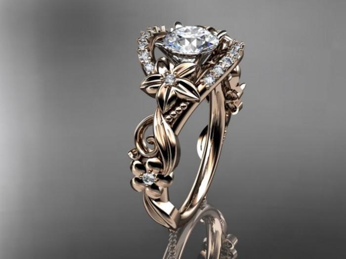 import-14kt_rose_gold_diamond_unique_engagement_ring_wedding_ring_ADLR211-b5c37a83c852e6a082178b7643dc6fef Top 60 Stunning & Marvelous Rose Gold Wedding Bands