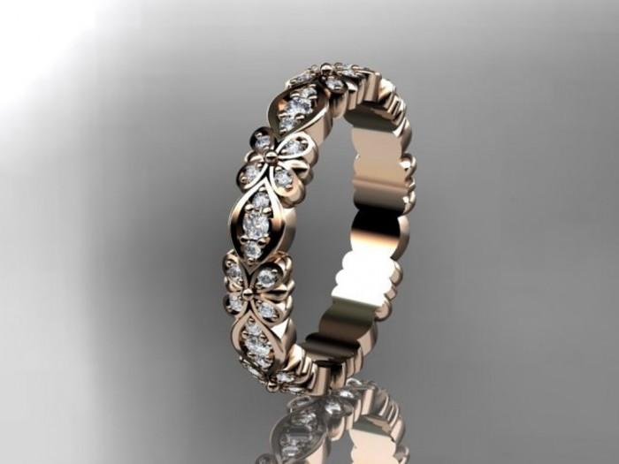 import-14kt_rose_gold_floral_diamond_wedding_ring_engagement_ring_wedding_band_ADLR122-47c9d0938131614e175de0d7fa98f5d0 Top 60 Stunning & Marvelous Rose Gold Wedding Bands