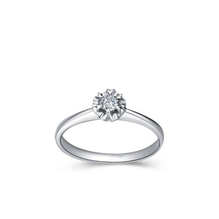 inexpensive-solitaire-round-diamond-engagement-ring 35 Fascinating & Stunning Round Solitaire Engagement Rings