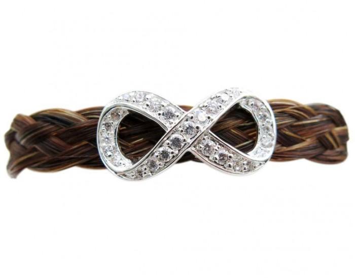 infinity-horse-hair-bracelet 45 Elegant & Breathtaking Horse Hair Bracelets