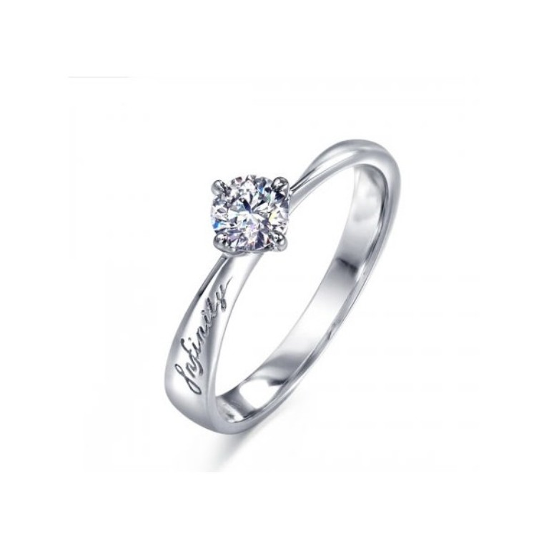 infinity-solitaire-engagement-ring-with-round-diamond-on-gold 35 Fascinating & Stunning Round Solitaire Engagement Rings
