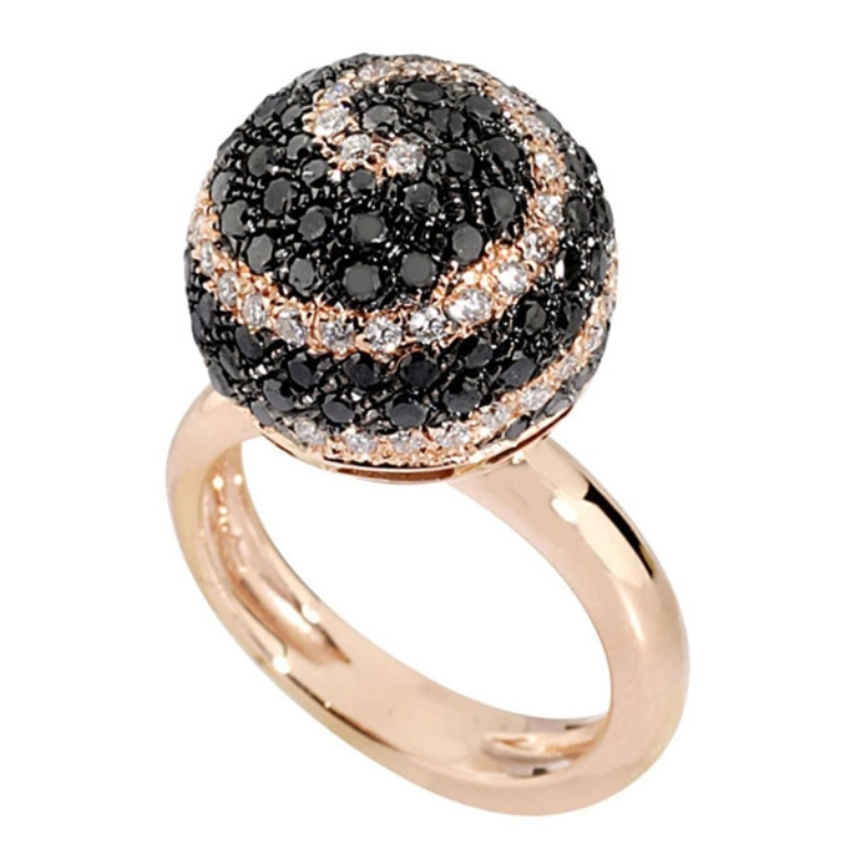 king_jewelers_ring_diamond_black_white_rose_gold_celestial-detail 50 Non-Traditional Black Diamond Rose Gold Engagement Rings