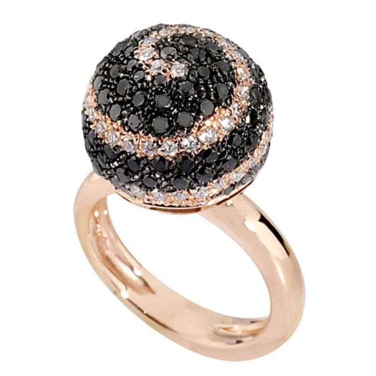 king_jewelers_ring_diamond_black_white_rose_gold_celestial-detail 50 Non-Traditional Black Diamond Rose Gold Engagement Rings