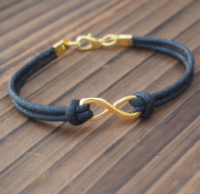 kiq0dh-l-610x610-jewels-infinity-infinity-gold-bracelet-mens-infinity-bracelet-gold-bracelet-fashion-vintage-girl-jewelry-handmade 40 Elegant & Catchy Handmade Men's Jewelry