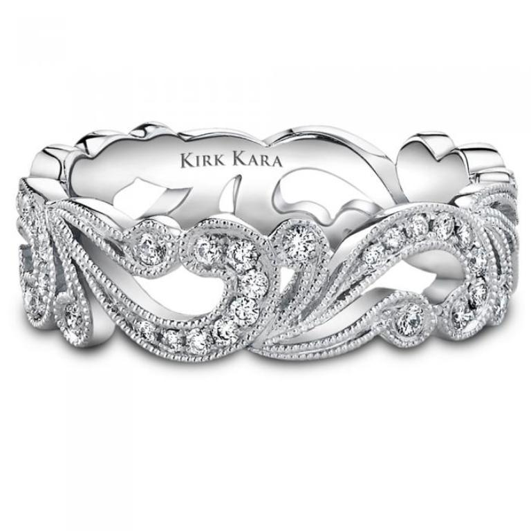 kirk-wb-ss6967-b-v1_sq 60 Breathtaking & Marvelous Diamond Wedding bands for Him & Her