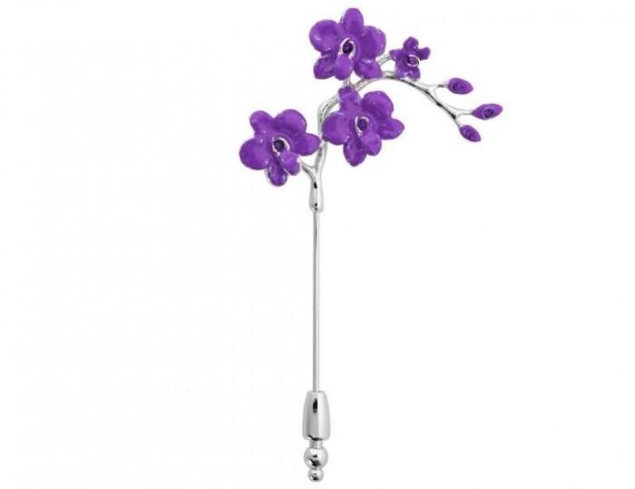 label_pinsmystic_orchids_purple Top 35 Elegant & Quality Lapel Pins