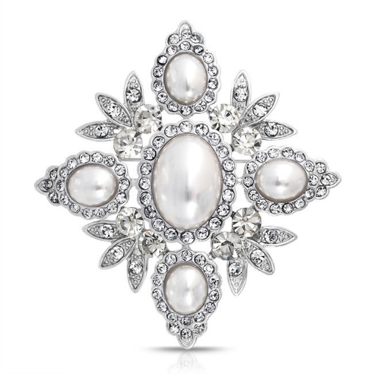 leaf-pearl-brooch-crystal-bridal_faj-dbh00306 50 Wonderful & Fascinating Pearl Brooches
