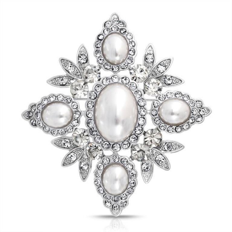leaf-pearl-brooch-crystal-bridal_faj-dbh00306 50 Wonderful & Fascinating Pearl Brooches