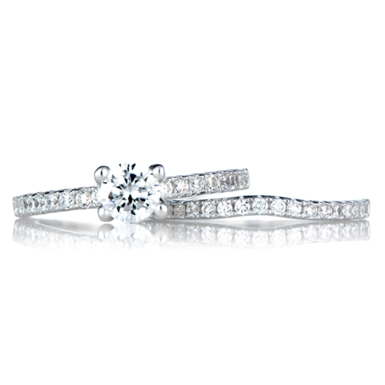 lucienne-s-cz-wedding-ring-set-17 35 Dazzling & Catchy Bridal Wedding Ring Sets