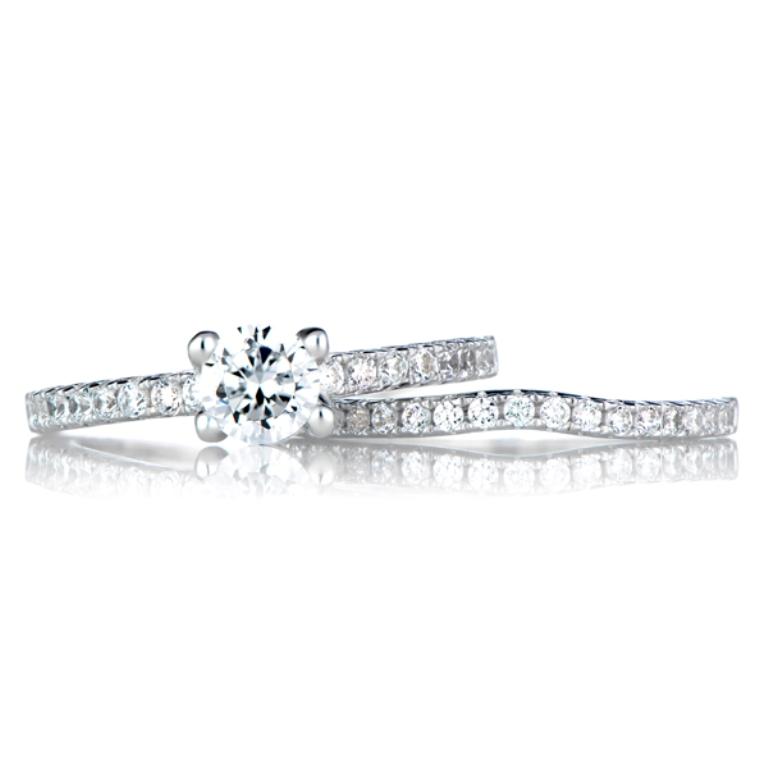 lucienne-s-cz-wedding-ring-set-17 35 Dazzling & Catchy Bridal Wedding Ring Sets