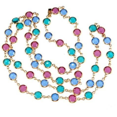 m-SwarovskiSautoirMultiColorNeck.1L-475x475 How To Choose The Right Necklace For Your Dress?