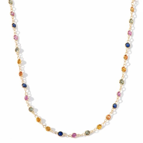 m-rarities-1418ct-multicolor-round-sapphire-14k-necklace-d-20111206235628653162326-475x475 How To Choose The Right Necklace For Your Dress?