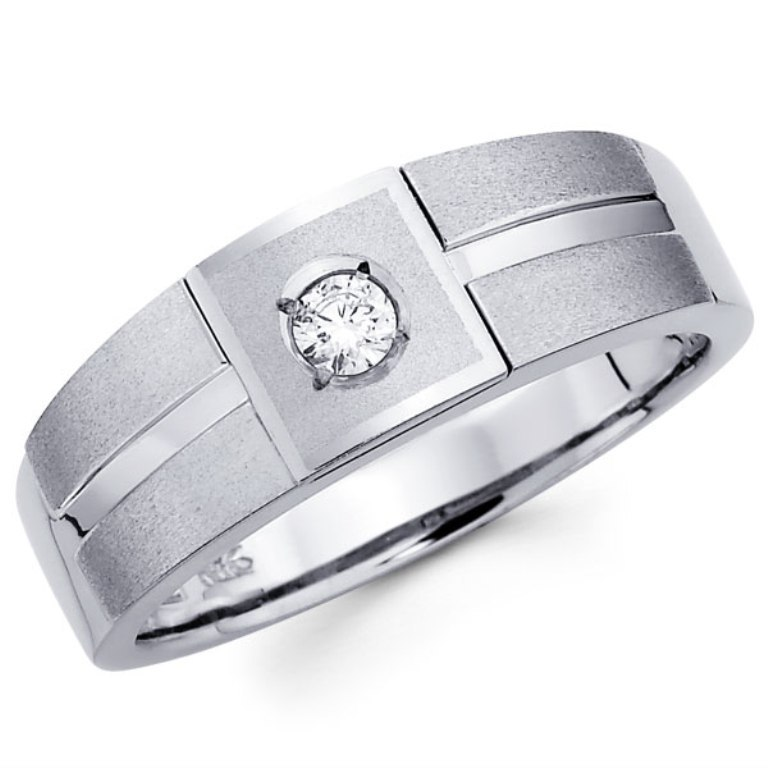 male-wedding-rings 60 Breathtaking & Marvelous Diamond Wedding bands for Him & Her