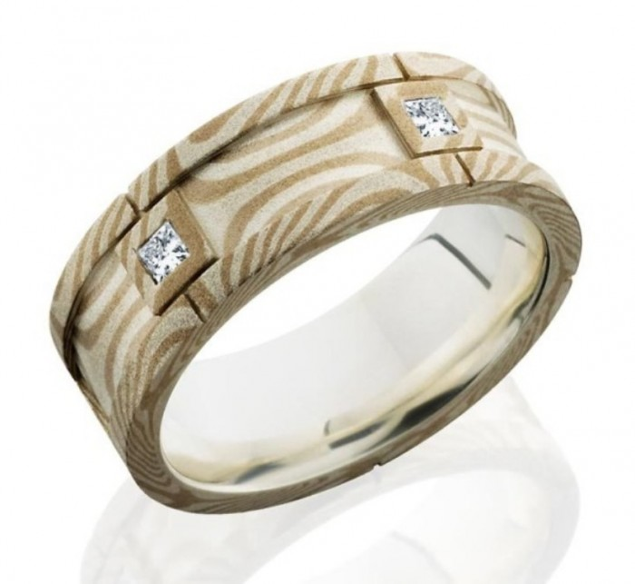 men-unique-wedding-bands-cream 40 Unique & Unusual Wedding Rings for Him & Her