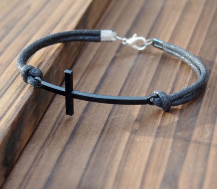 mens-bracelet-cross-jewelry-handmade 40 Elegant & Catchy Handmade Men's Jewelry