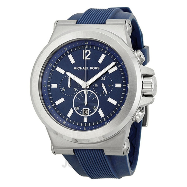 michael-kors-dylan-blue-dial-blue-rubber-mens-watch-mk8303-38 The Best 40 Sport Watches for Men
