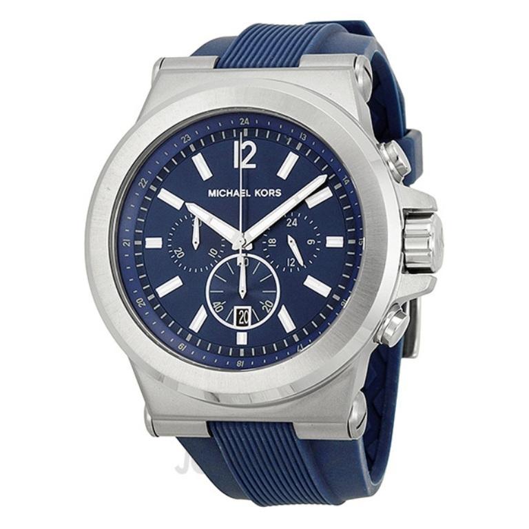 michael-kors-dylan-blue-dial-blue-rubber-mens-watch-mk8303-38 The Best 40 Sport Watches for Men