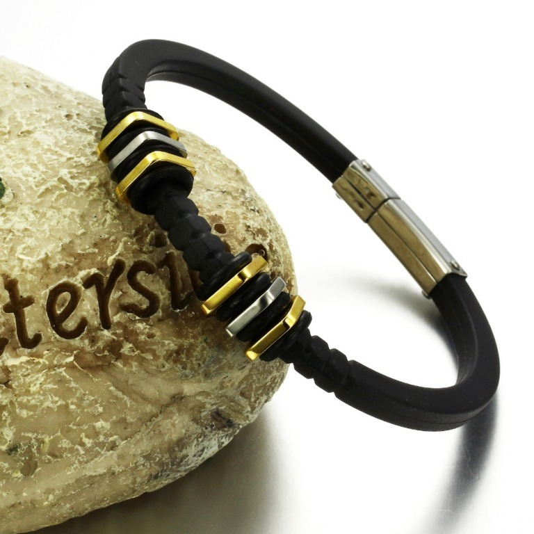 min-order-10-stainless-steel-genuine-silicone-bracelet-wrap-jewelry-Stylish-Men-s-Handmade-Leather 40 Elegant & Catchy Handmade Men's Jewelry