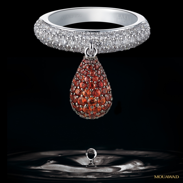 mouawad-diamond-sapphire-ring-jul281 40 Elegant Orange Sapphire Rings for Different Occasions