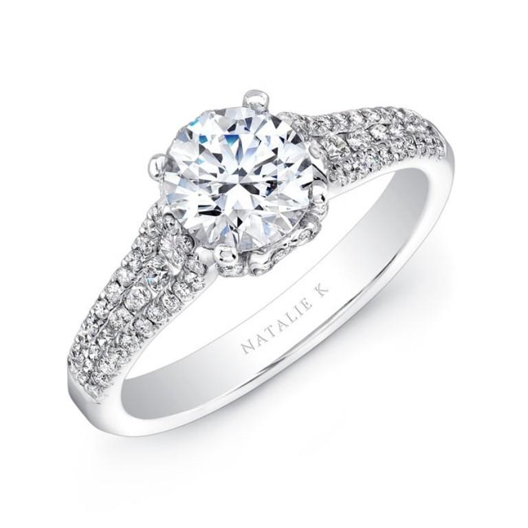 nk25692-w_three_qrtr_3 50 Unique Vintage Classic Diamond Engagement Rings
