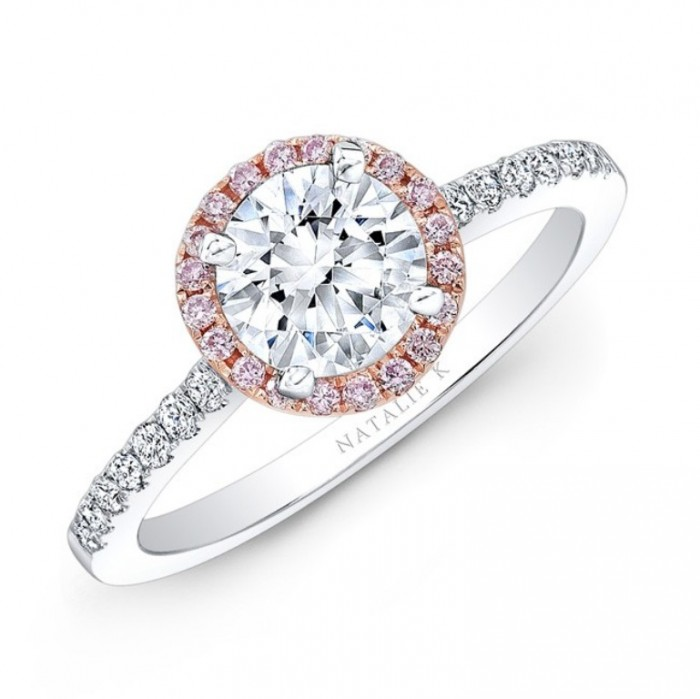 nk28669pk-18wr_three_qrtr_3 Top 70 Dazzling & Breathtaking Rose Gold Engagement Rings