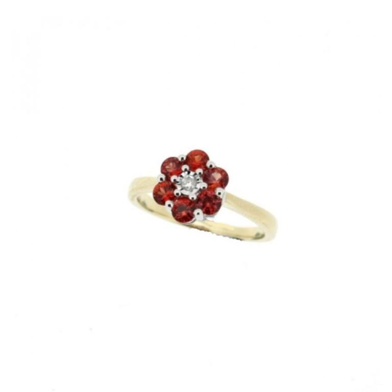 orange-sapphire-diamond-ring1 40 Elegant Orange Sapphire Rings for Different Occasions