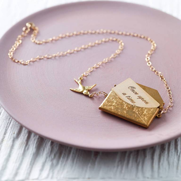 original_gold-personalised-love-letter-necklace 30 Non-traditional & Unusual Gold Necklaces