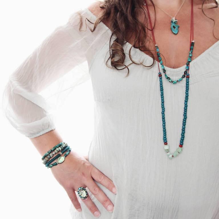original_hand-knotted-chrysocolla-gemstone-necklace 65 Fabulous & Stunning Handmade Beaded Gemstone Jewelries