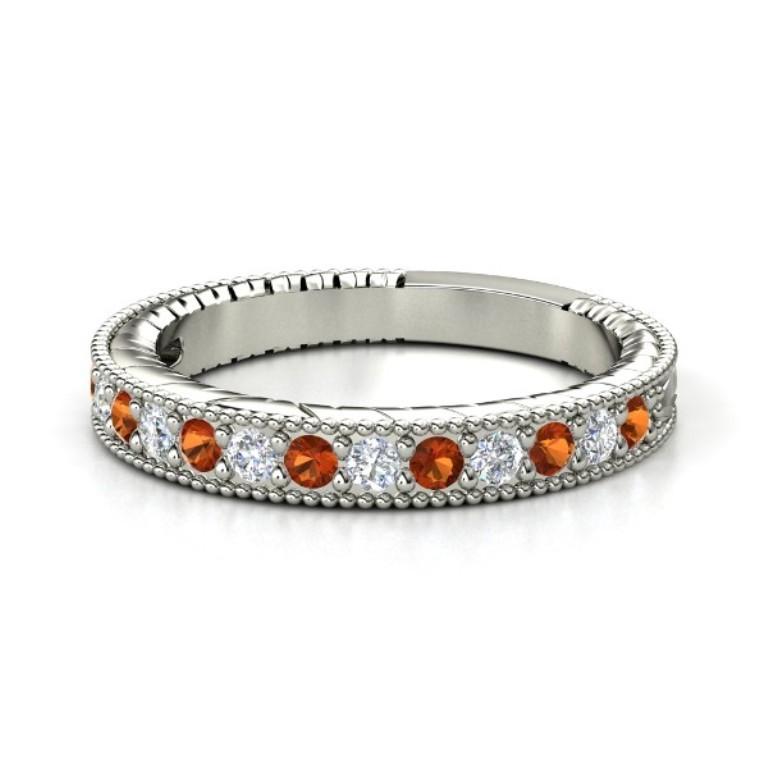 palladium-ring-with-fire-opal-diamond 35 Fabulous Antique Palladium Engagement Rings