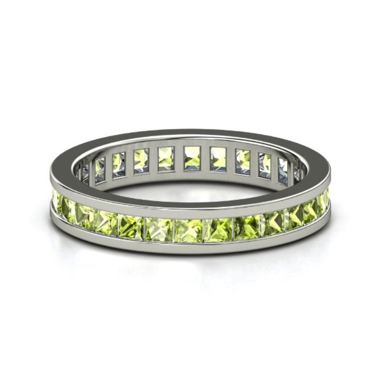 palladium-ring-with-peridot 35 Fabulous Antique Palladium Engagement Rings