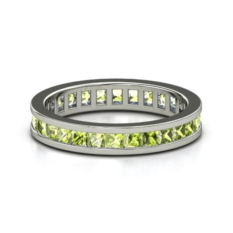 palladium-ring-with-peridot 35 Fabulous Antique Palladium Engagement Rings
