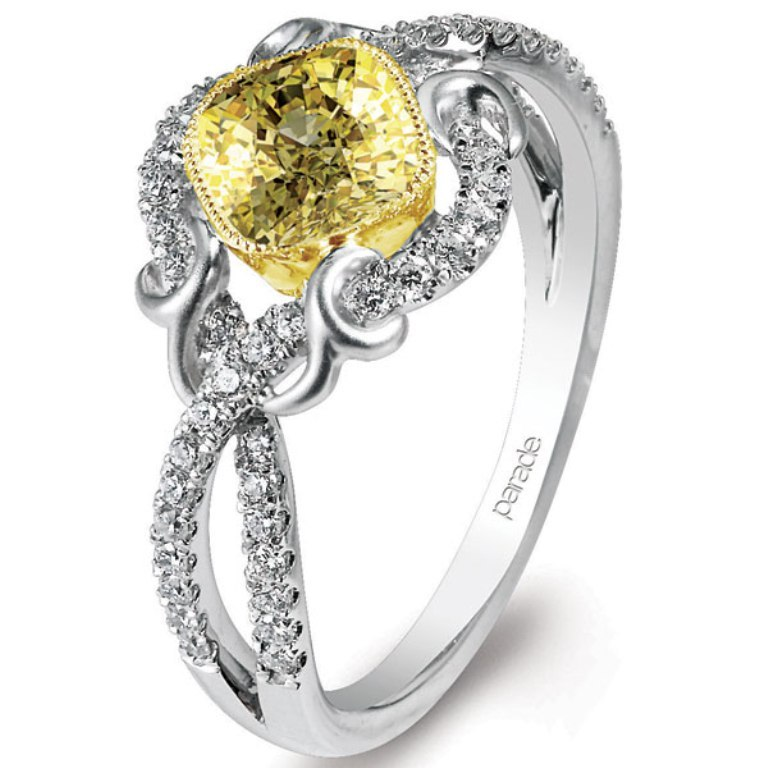 parade-design-yellow-diamond-ring 60 Magnificent & Breathtaking Colored Stone Engagement Rings