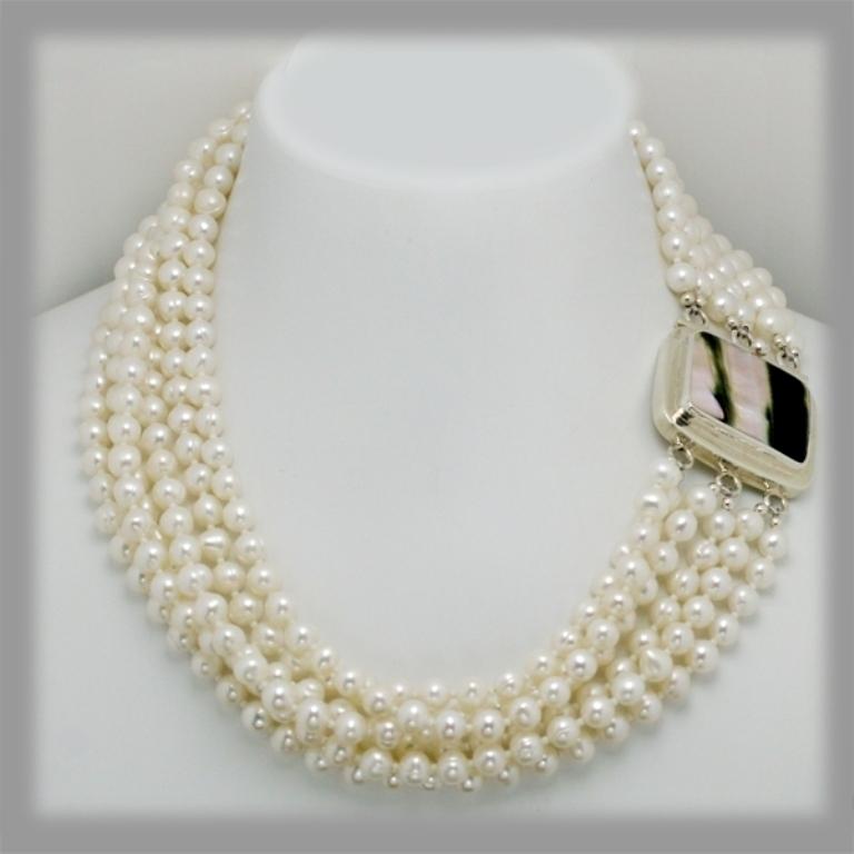 pearl-abalone 65 Fabulous & Stunning Handmade Beaded Gemstone Jewelries