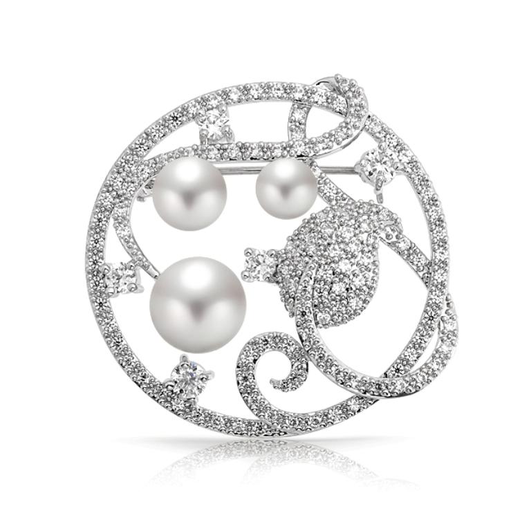 pearl-leaf-pin-brooch-leaf_ml-yb10251 50 Wonderful & Fascinating Pearl Brooches