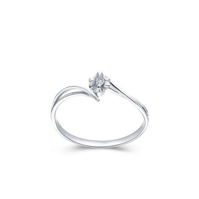 petite-affordable-round-solitaire-engagement-ring 35 Fascinating & Stunning Round Solitaire Engagement Rings