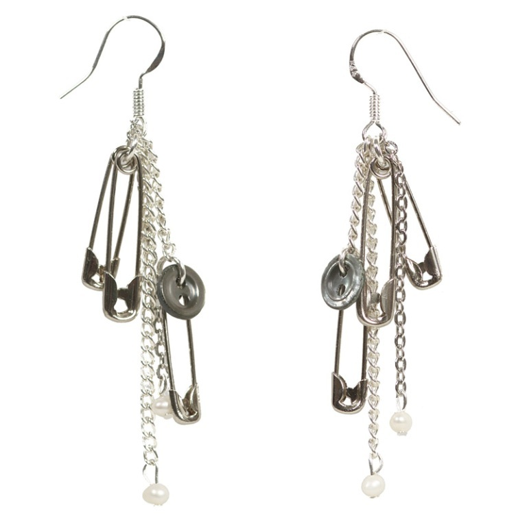 pin-button-pearl-earrings 45 Unusual and Non-traditional Earrings
