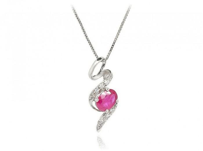 pink_beauty_snake_ruby_pendant_necklace_060030_1 50 Unique Diamond Necklaces & Pendants
