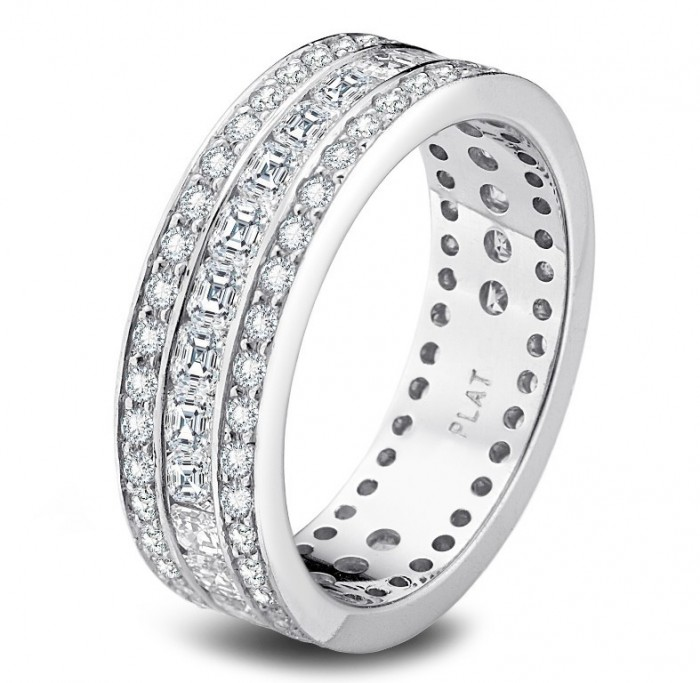 precision-set-platinum-and-diamond-wedding-band-e1379701228977 60 Breathtaking & Marvelous Diamond Wedding bands for Him & Her