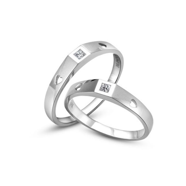 princess-cut-diamond-couple-rings-wedding-bands 60 Breathtaking & Marvelous Diamond Wedding bands for Him & Her