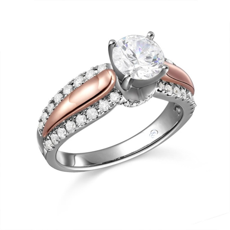 r11158___ Top 70 Dazzling & Breathtaking Rose Gold Engagement Rings