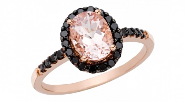 rcc_017263_best-zoom_carat_morganite_and_black_diamond_14k_pink_g 50 Non-Traditional Black Diamond Rose Gold Engagement Rings