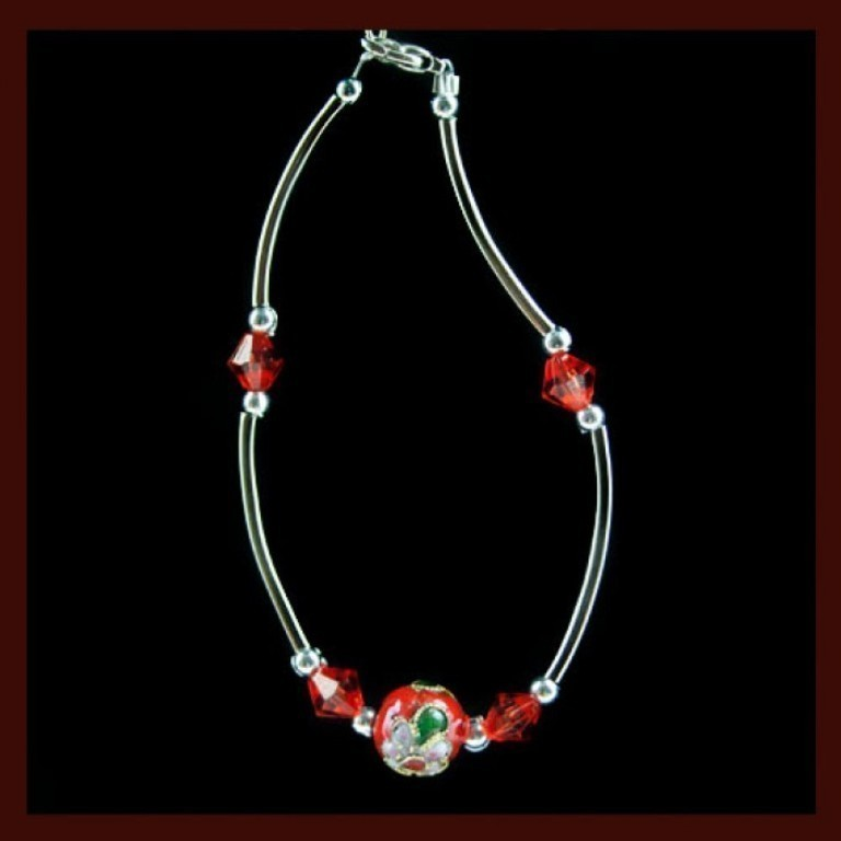 red_ball_flower_bracelet_far-700x700 65 Fabulous & Stunning Handmade Beaded Gemstone Jewelries