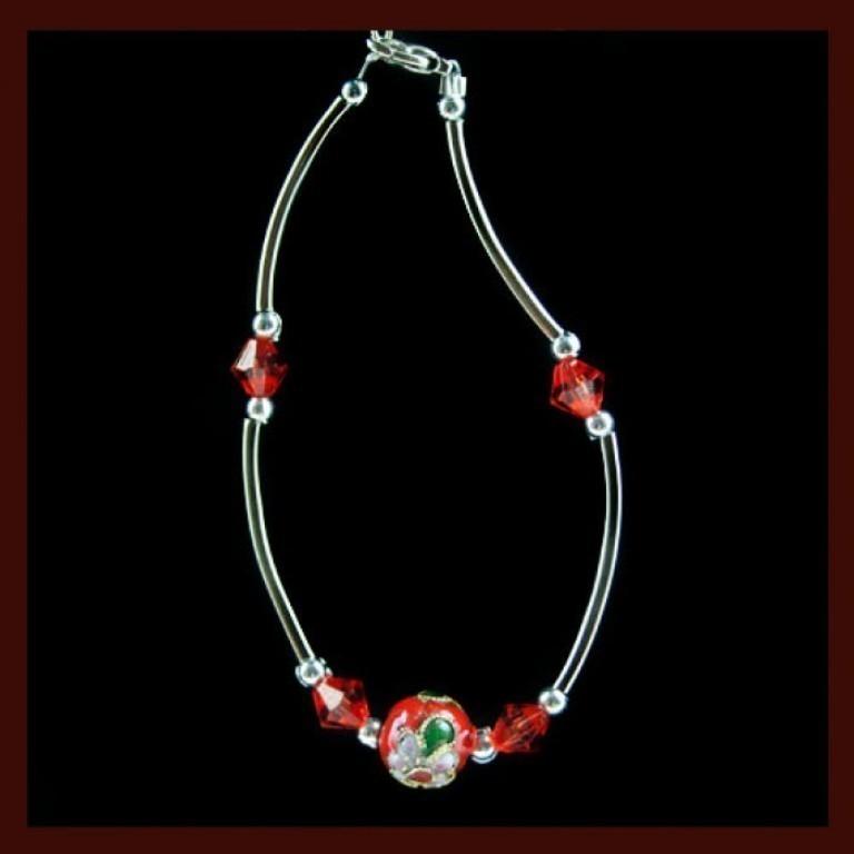 red_ball_flower_bracelet_far-700x700 65 Fabulous & Stunning Handmade Beaded Gemstone Jewelries